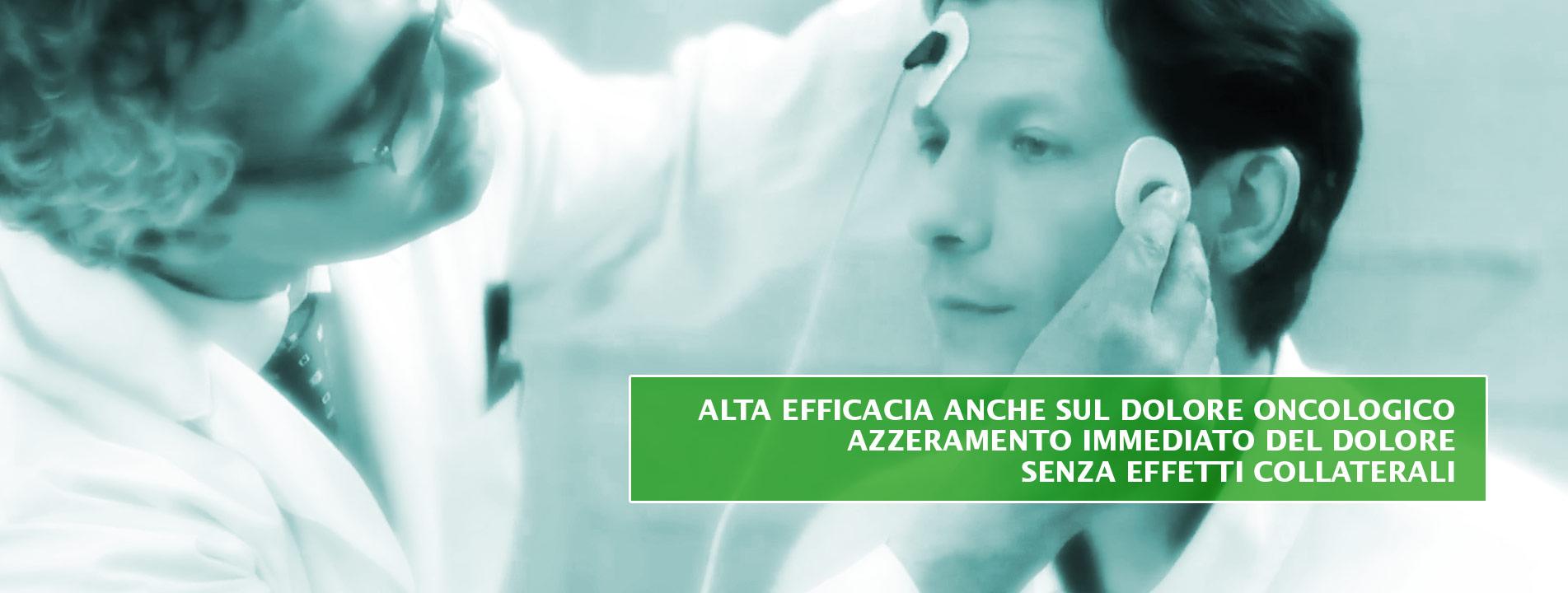 Alta efficacia sul dolore oncologico azzeramento immediato del dolore senza effetti collaterali