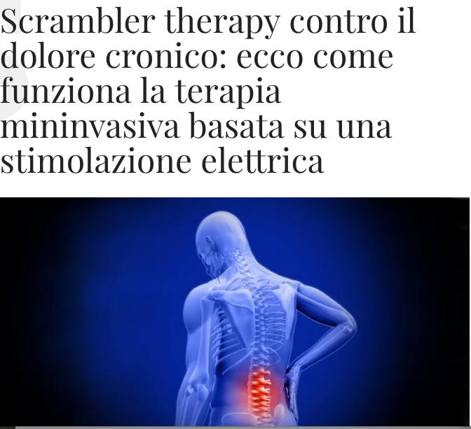 Scrambler therapy: la terapia per il dolore cronico